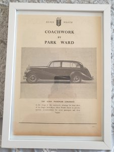 Picture of 1969 Original 1953 Rolls-Royce Framed Advert
