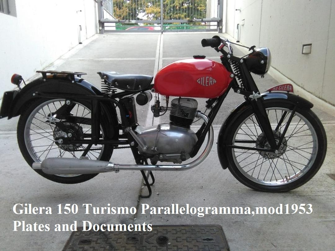 1953 Gilera 150 Turismo Parallelogrammo For Sale (picture 1 of 2)