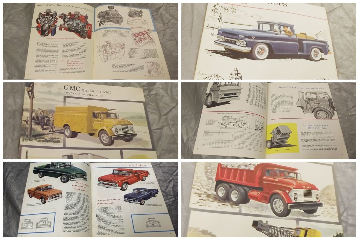 0000 GMC ORIG SALES BROCHURES WHOLE RANGE 1960S TO 1975  For Sale (picture 1 of 6)