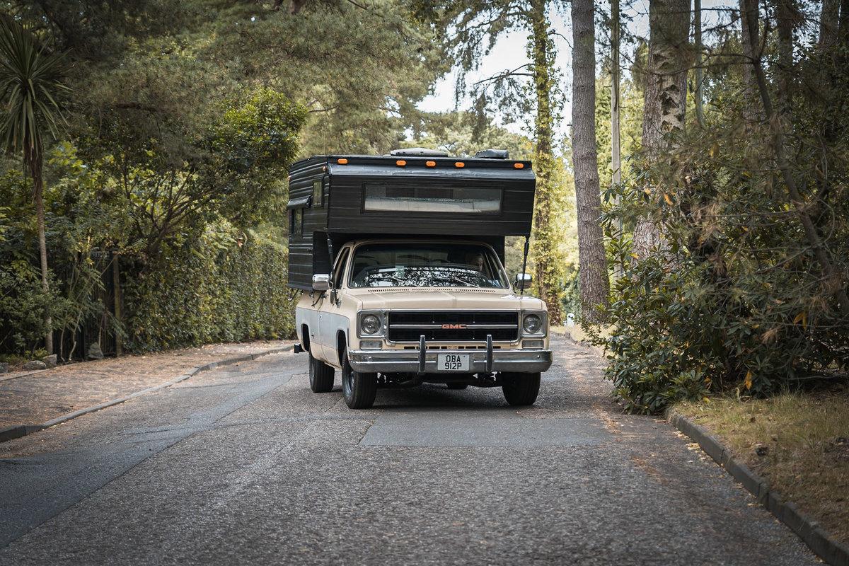 1976 GMC Sierra grande American pick up truck camper For Sale (picture 1 of 6)