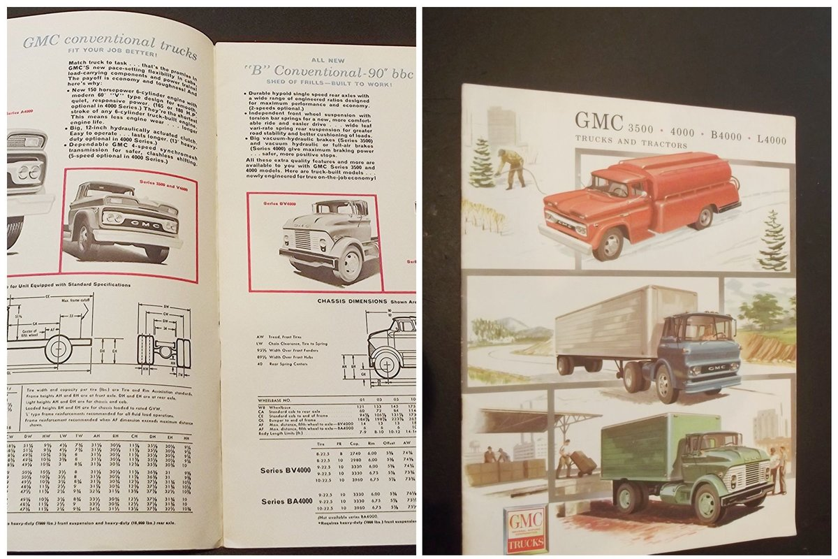 0000 GMC ORIG SALES BROCHURES WHOLE RANGE 1960S TO 1975 For Sale (picture 5 of 12)
