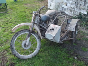 Lot 55 - A 1965 Greeves TFS Triumph Combination project  SOLD by Auction
