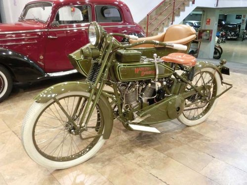 HARLEY DAVIDSON J - L20T WITH SIDECAR - 1920 For Sale (picture 1 of 6)