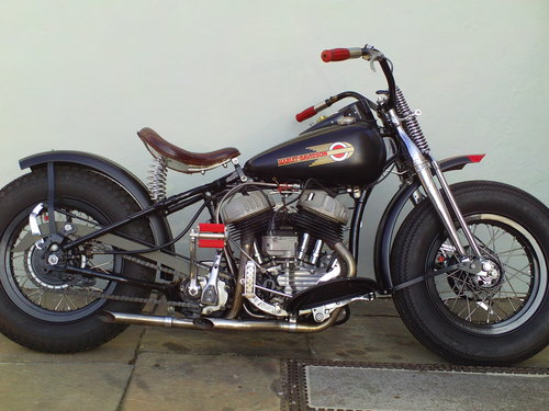 1943 HARLEY DAVIDSON WLC BOBBER SOLD (picture 1 of 6)