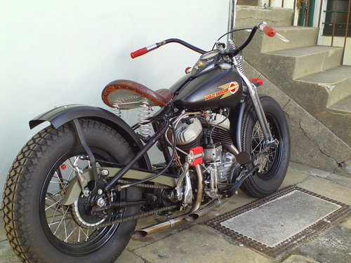 1943 HARLEY DAVIDSON WLC BOBBER SOLD (picture 2 of 6)