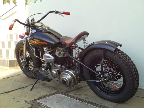 1943 HARLEY DAVIDSON WLC BOBBER SOLD (picture 4 of 6)