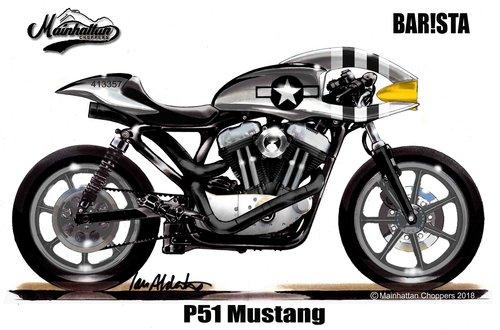 1996 BAR!STA Cafe Racer on Harley Davidson Sportster For Sale (picture 6 of 6)