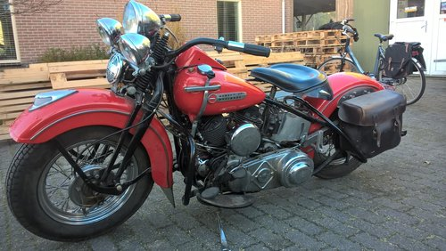 1974 harley davidson 1200 SV 1947 model U SOLD (picture 4 of 6)