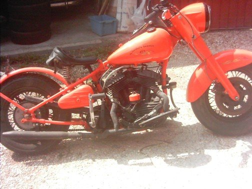 1950 Halry Davidson bobber from WL WLA WLC For Sale (picture 1 of 6)