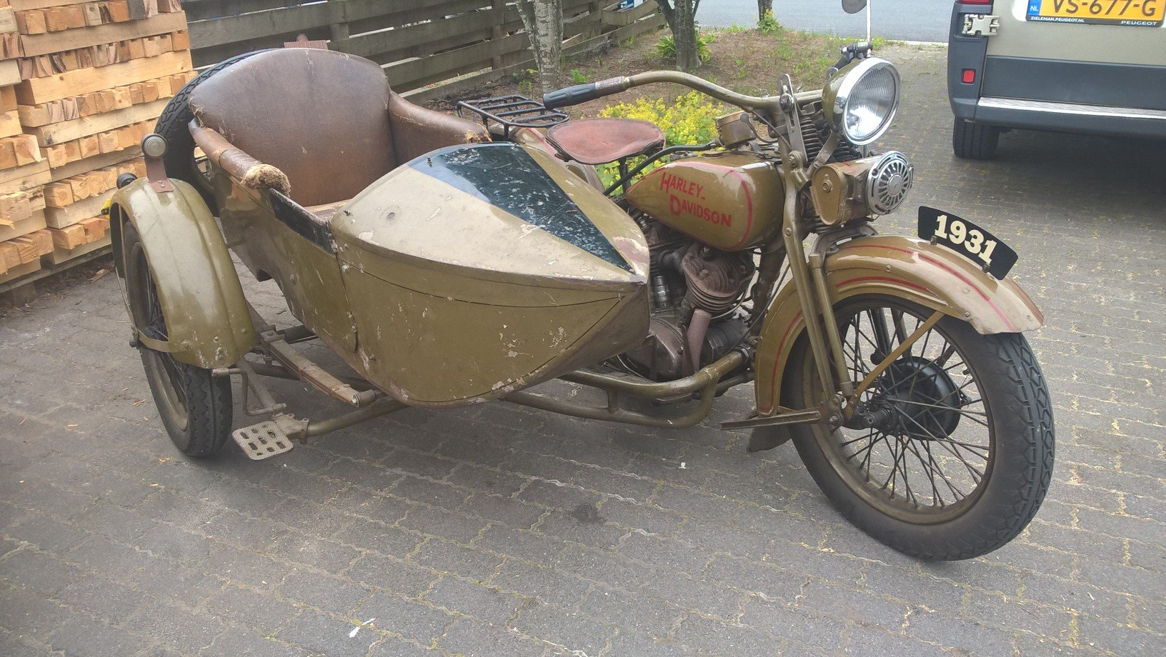 Harley davidson sidecar combination VL 1200 1932 SOLD (picture 2 of 6)
