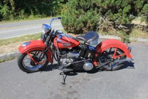 1940 Harley Davidson Solo  Clean Restored Red Driver  $19.9k