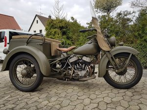 Very rare 1942 Harley Davidson WLC Servicar For Sale