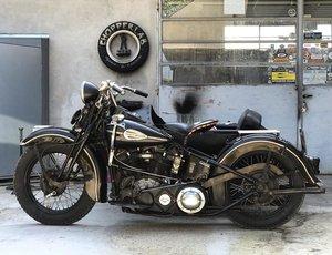 1946 Harley Davidson FL 1200 sidecar Knucklehead  For Sale