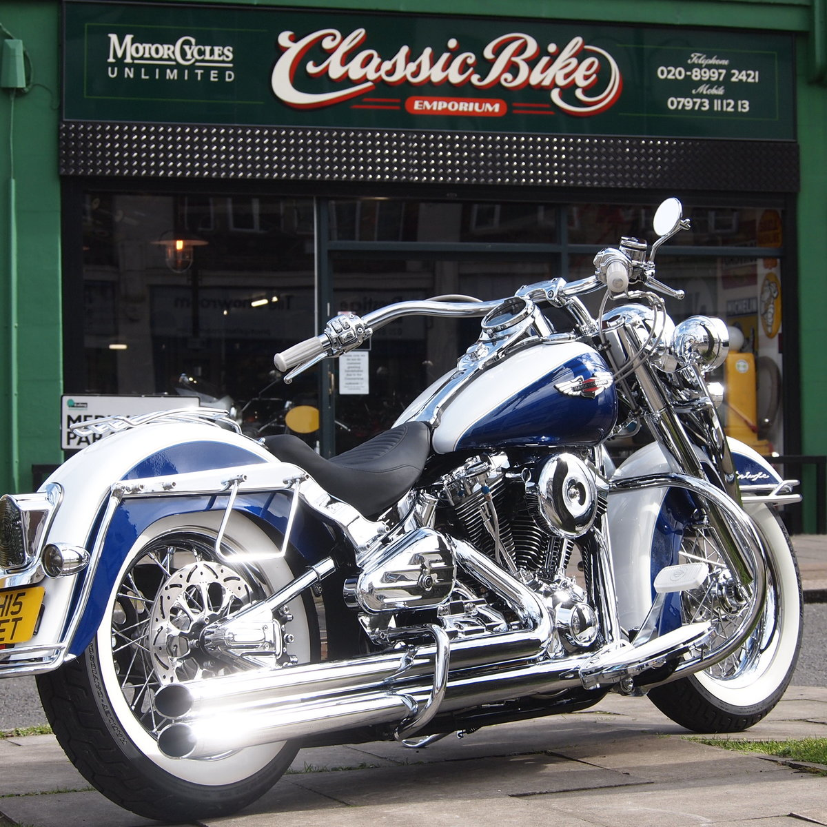 2008 Harley Davidson FLSTN Deluxe, RESERVED FOR FLEMMING. SOLD (picture 1 of 6)