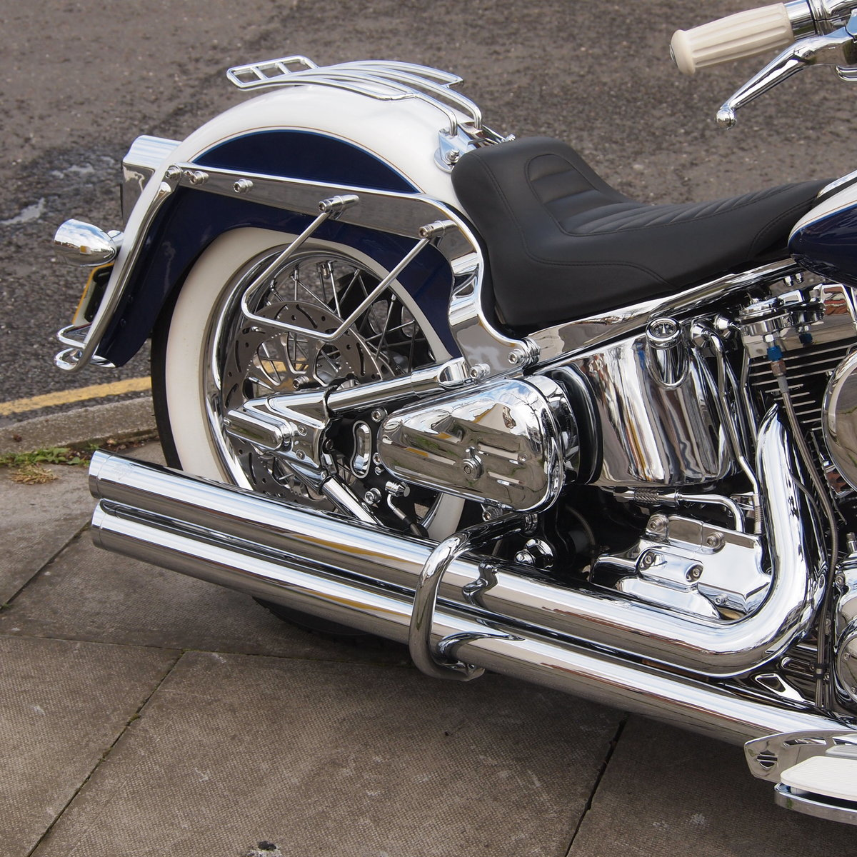 2008 Harley Davidson FLSTN Deluxe, RESERVED FOR FLEMMING. SOLD (picture 5 of 6)