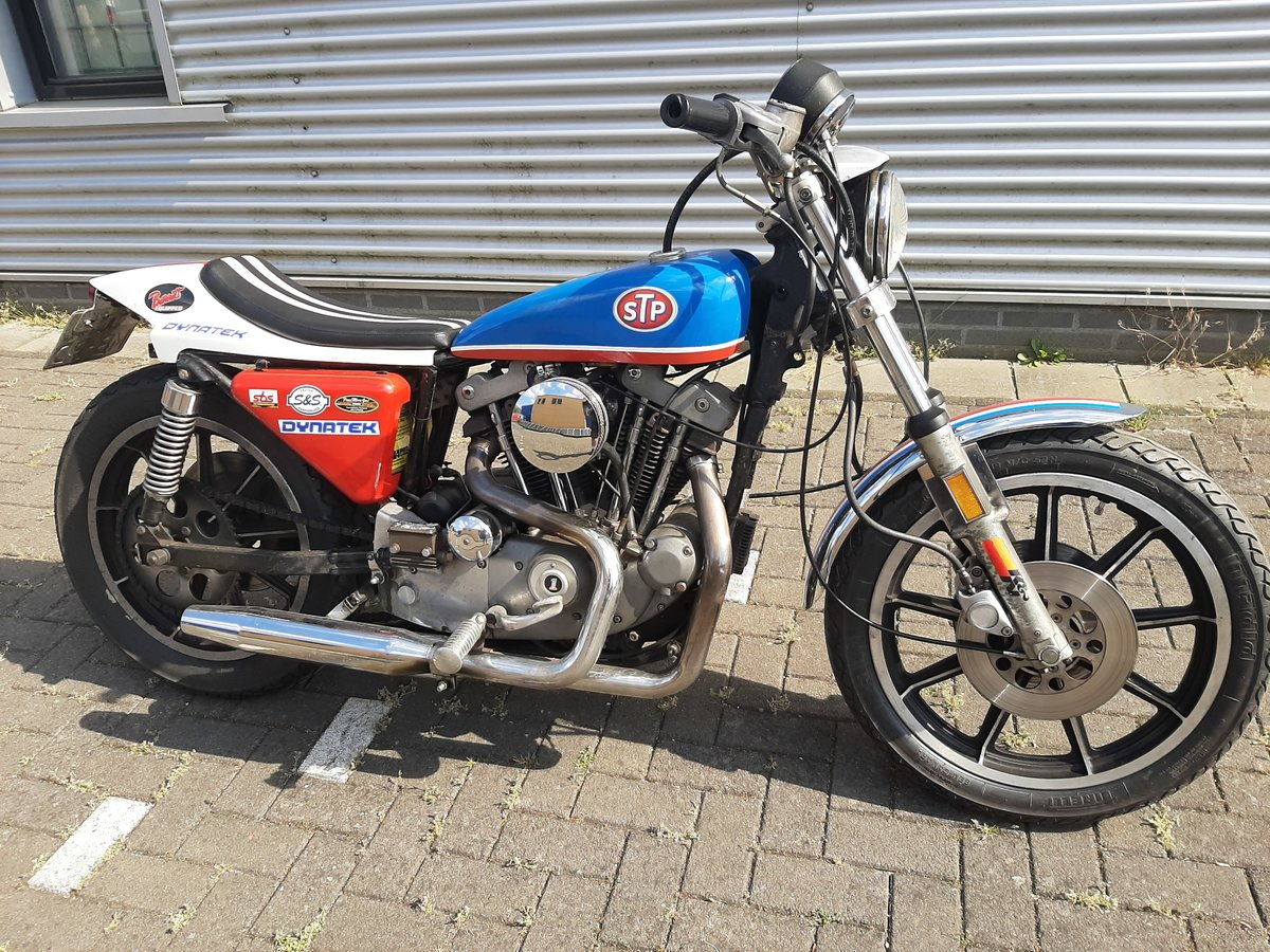 harley davidson XLH sportster 1979 evil knievel SOLD (picture 1 of 6)
