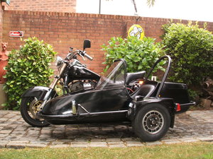 Harley FXR with sidecar now with MOT