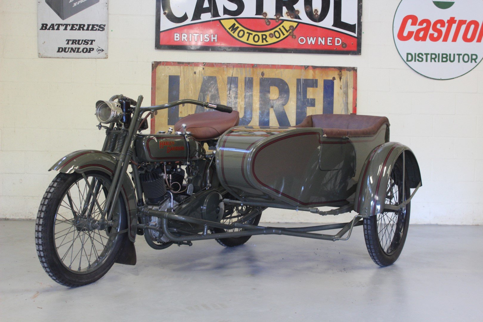 1924 HARLEY-DAVIDSON 1,000CC MODEL JE WITH SIDECAR For Sale by Auction (picture 1 of 6)