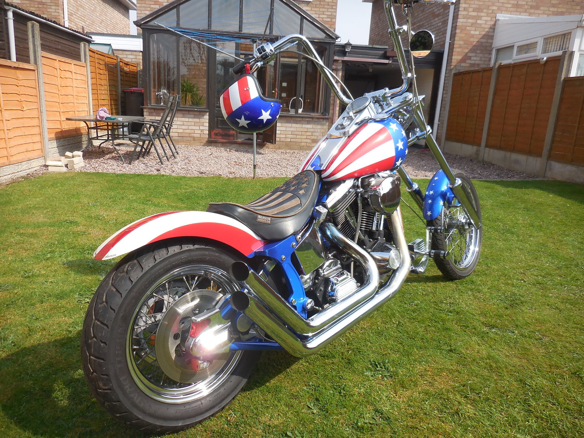 1999 Harley Davidson chopper captain America 1340 evo For Sale (picture 1 of 6)