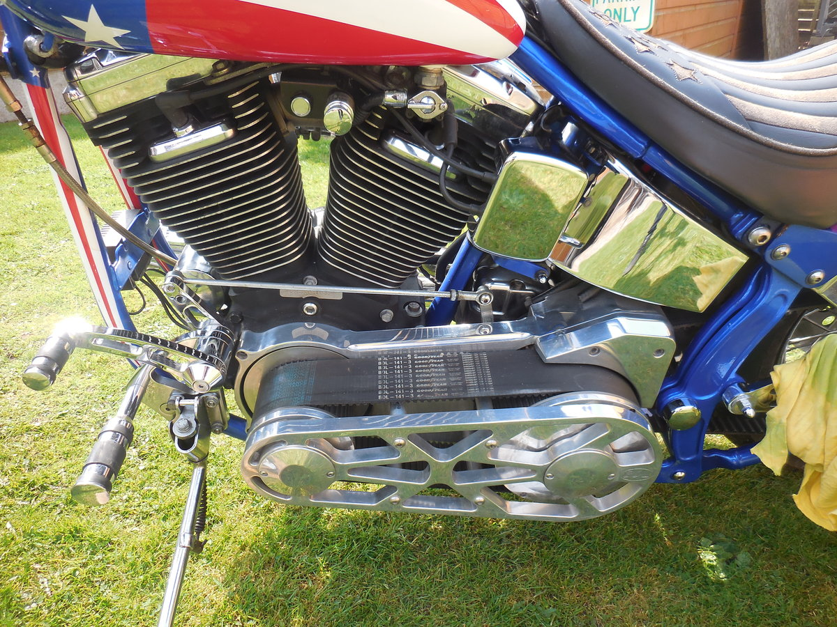 1999 Harley Davidson chopper captain America 1340 evo For Sale (picture 2 of 6)