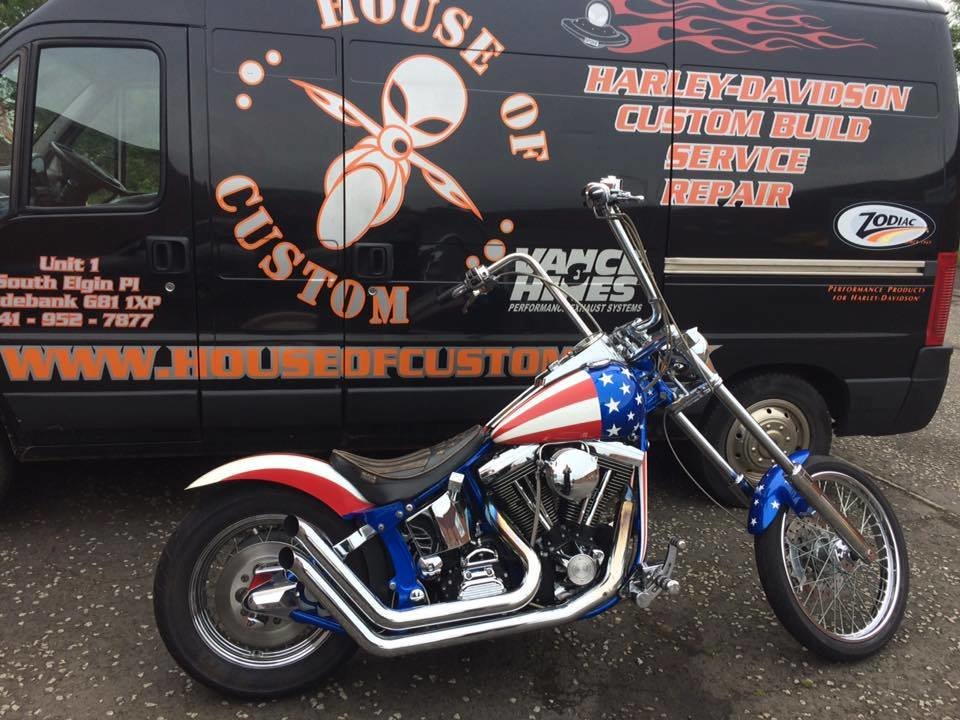 1999 Harley Davidson chopper captain America 1340 evo For Sale (picture 3 of 6)