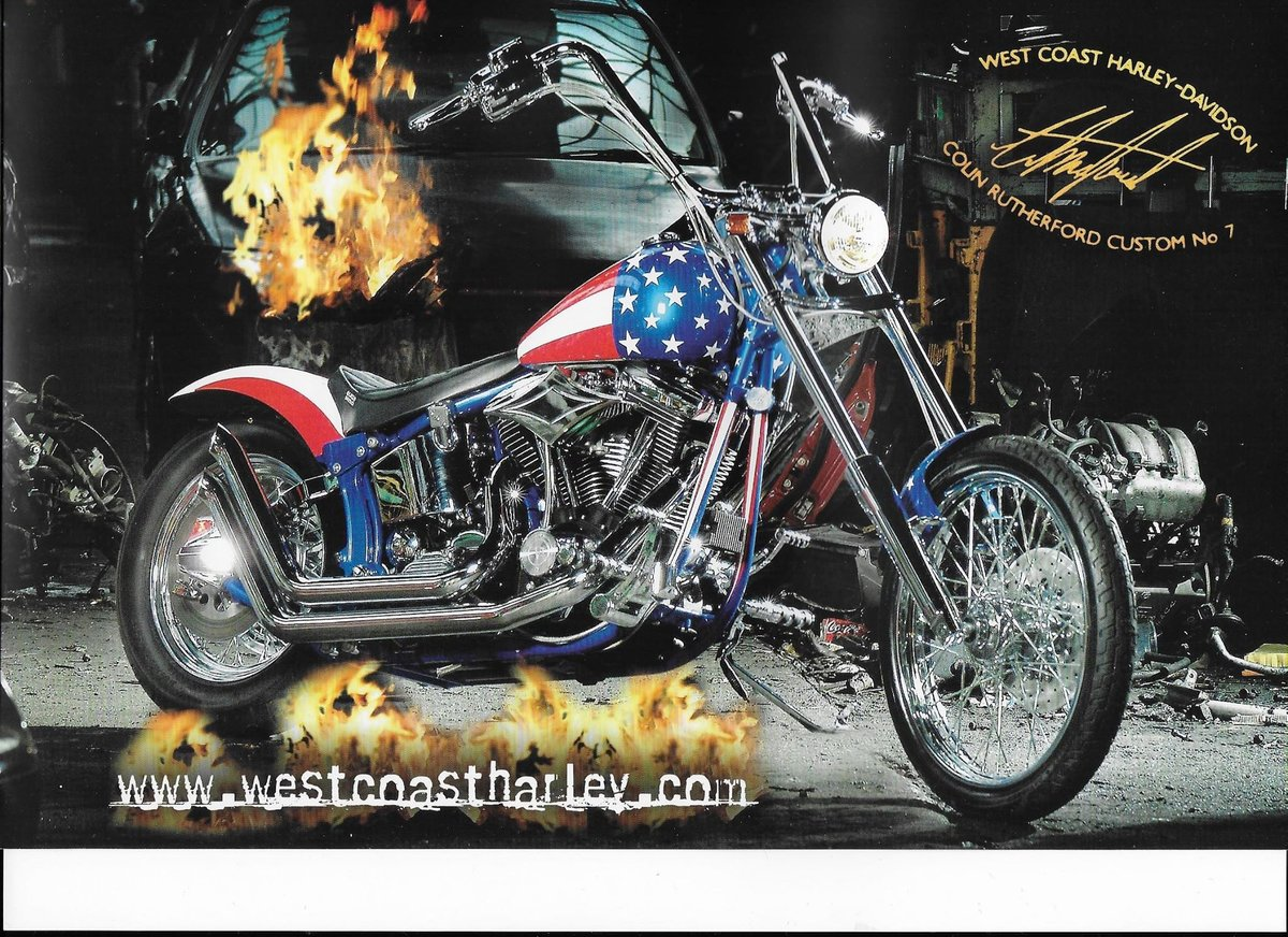 1999 Harley Davidson chopper captain America 1340 evo For Sale (picture 4 of 6)