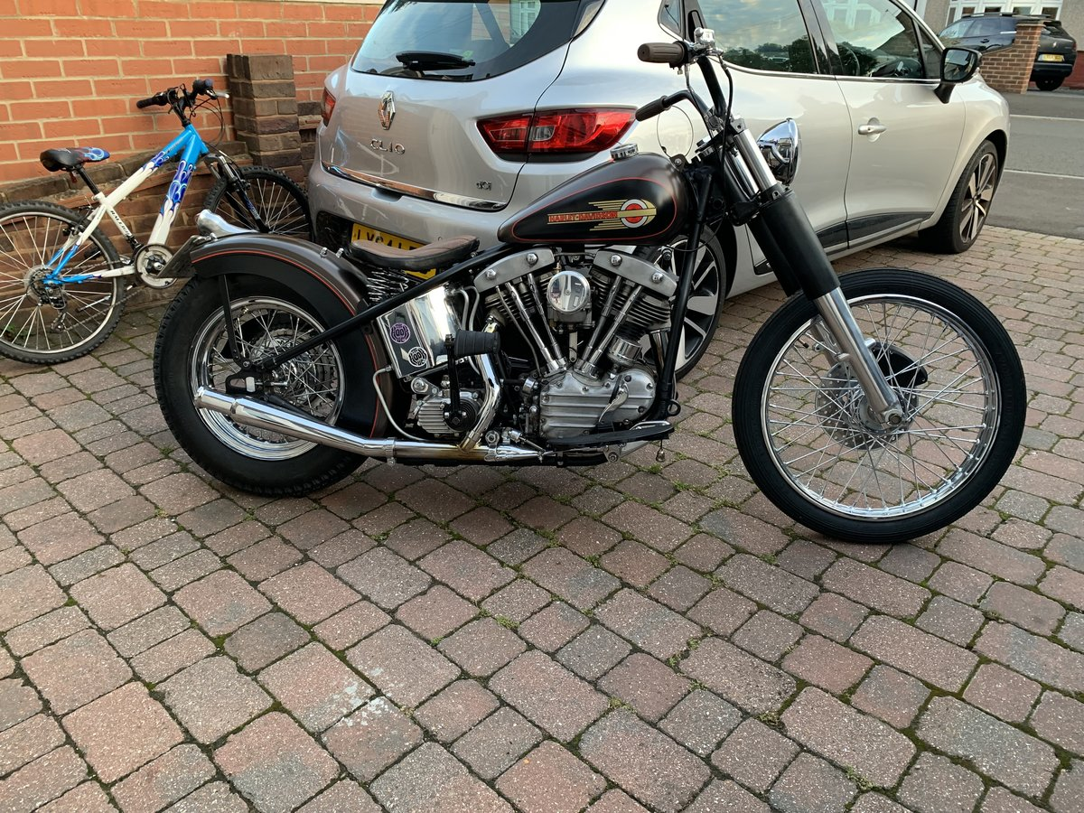 1950 Harley Pan Shovel Bobber For Sale (picture 1 of 5)