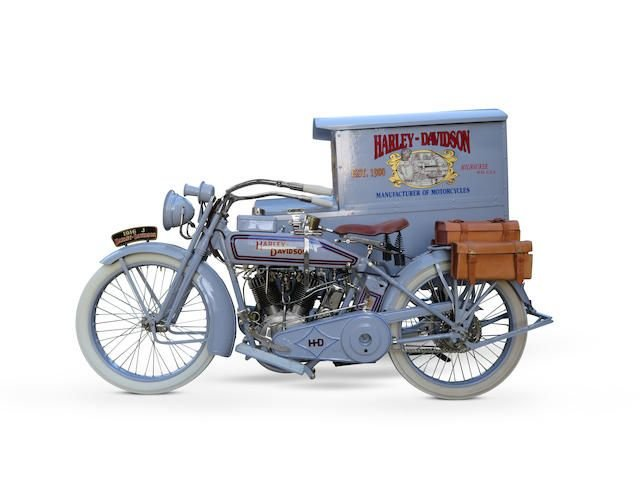 1916 HARLEY-DAVIDSON 1,000CC MODEL J & PACKAGE TRUCK SIDECAR SOLD by Auction (picture 1 of 1)