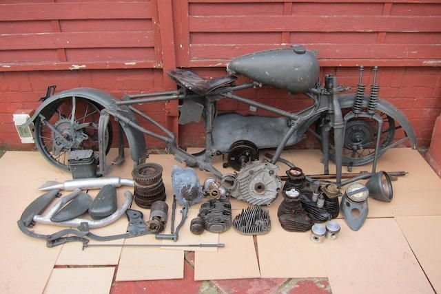 C.1942 HARLEY-DAVIDSON 739CC WLA TYPE III PROJECT (LOT 379) SOLD by Auction (picture 1 of 1)