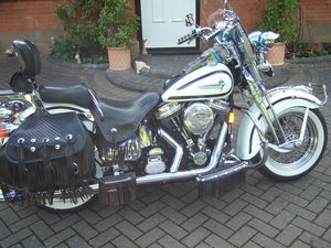 Harley FLSTS Softail Heritage Springer.