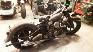 Harley Panhead  Police Bike