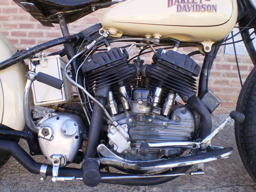 HARLEY DAVIDSON W37 750 cc YEAR 1937 BOBBER  For Sale (picture 4 of 6)