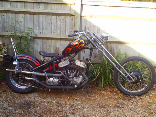 1943 HARLEY DAVIDSON 45 WLA HARDTAIL CHOPPER SOLD (picture 1 of 5)