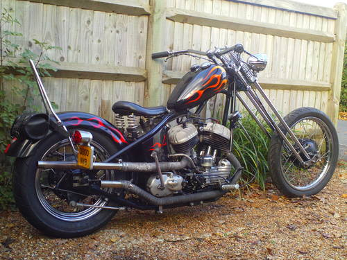 1943 HARLEY DAVIDSON 45 WLA HARDTAIL CHOPPER SOLD (picture 2 of 5)