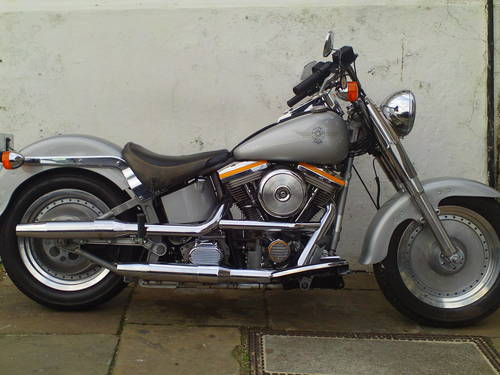 1990 HARLEY DAVIDSON FAT BOY GREY GHOST FLSTF SOLD (picture 1 of 6)