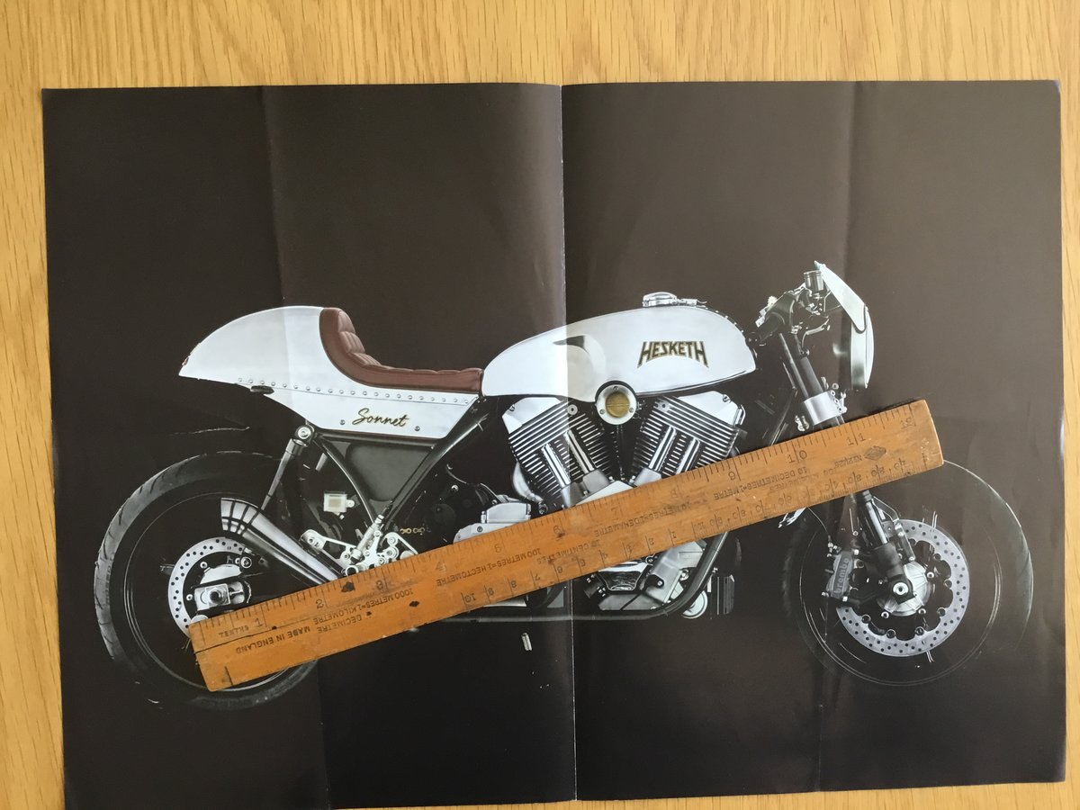 2016 Hesketh Sonnet brochure For Sale (picture 1 of 2)
