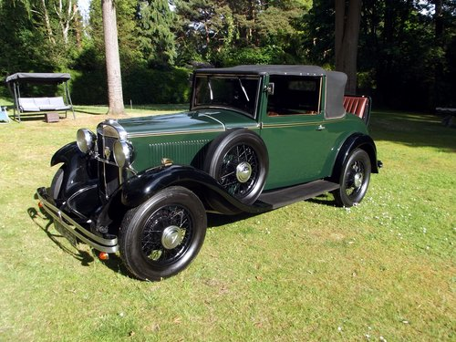1931 HILLMAN WIZARD COUPE CABRIOLET SOLD (picture 1 of 6)