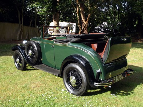 1931 HILLMAN WIZARD COUPE CABRIOLET SOLD (picture 3 of 6)