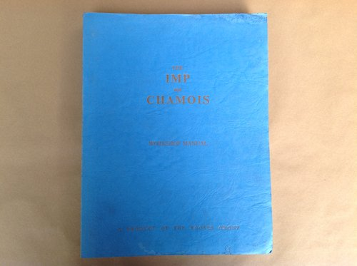 Hillman Imp & Chamois Rootes Workshop Manual For Sale (picture 1 of 4)