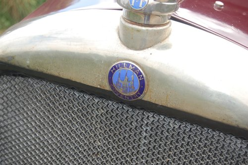 1928 stately vintage Hillman 14 saloon SOLD (picture 4 of 6)
