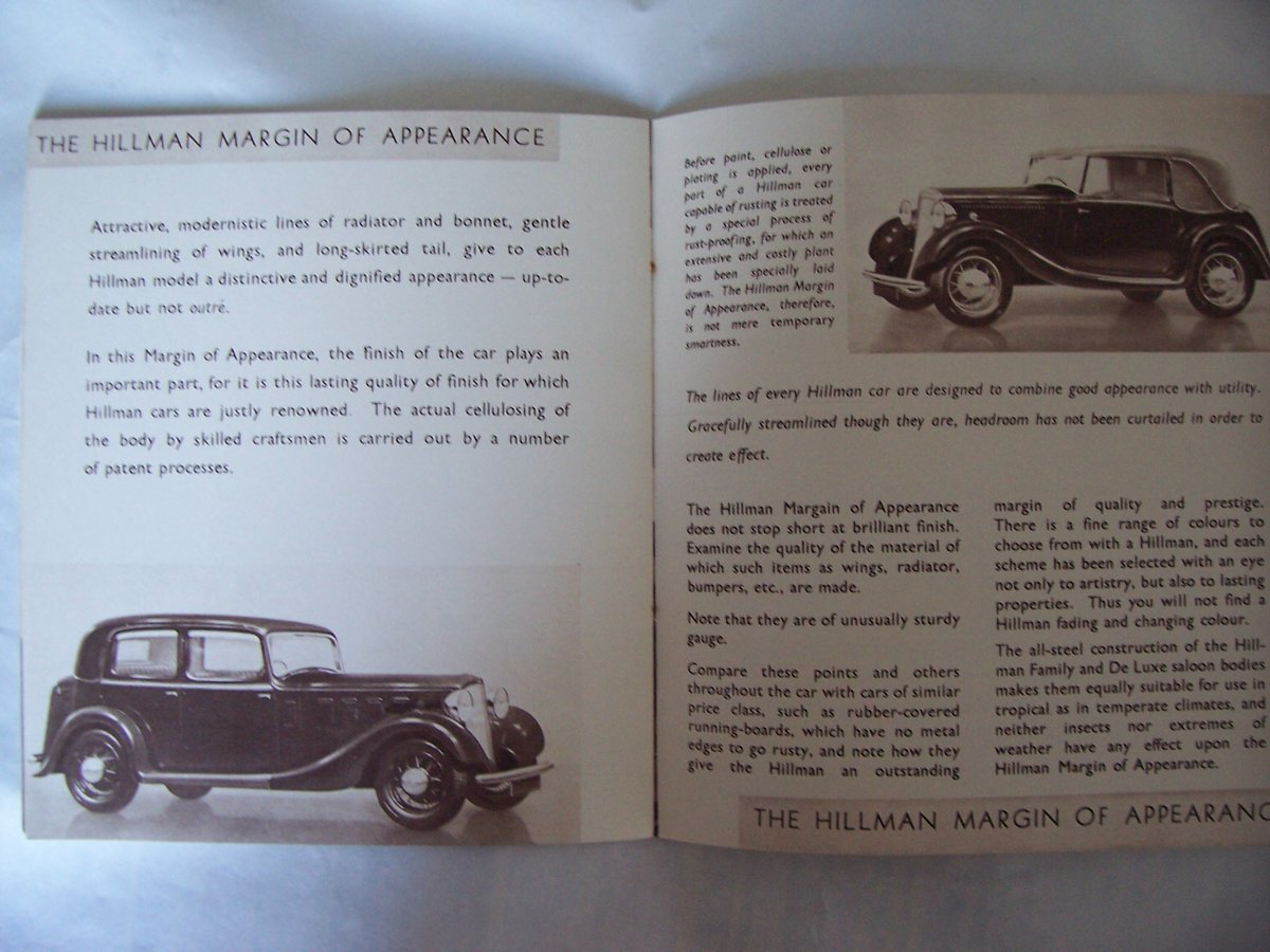 HILLMAN PROMOTIONBOOKLET 1935 For Sale (picture 3 of 6)