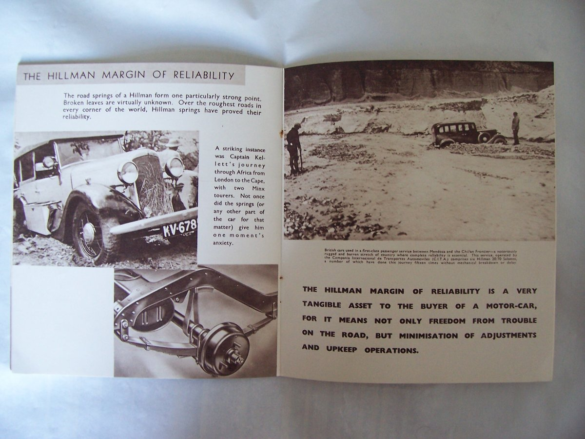 HILLMAN PROMOTIONBOOKLET 1935 For Sale (picture 4 of 6)