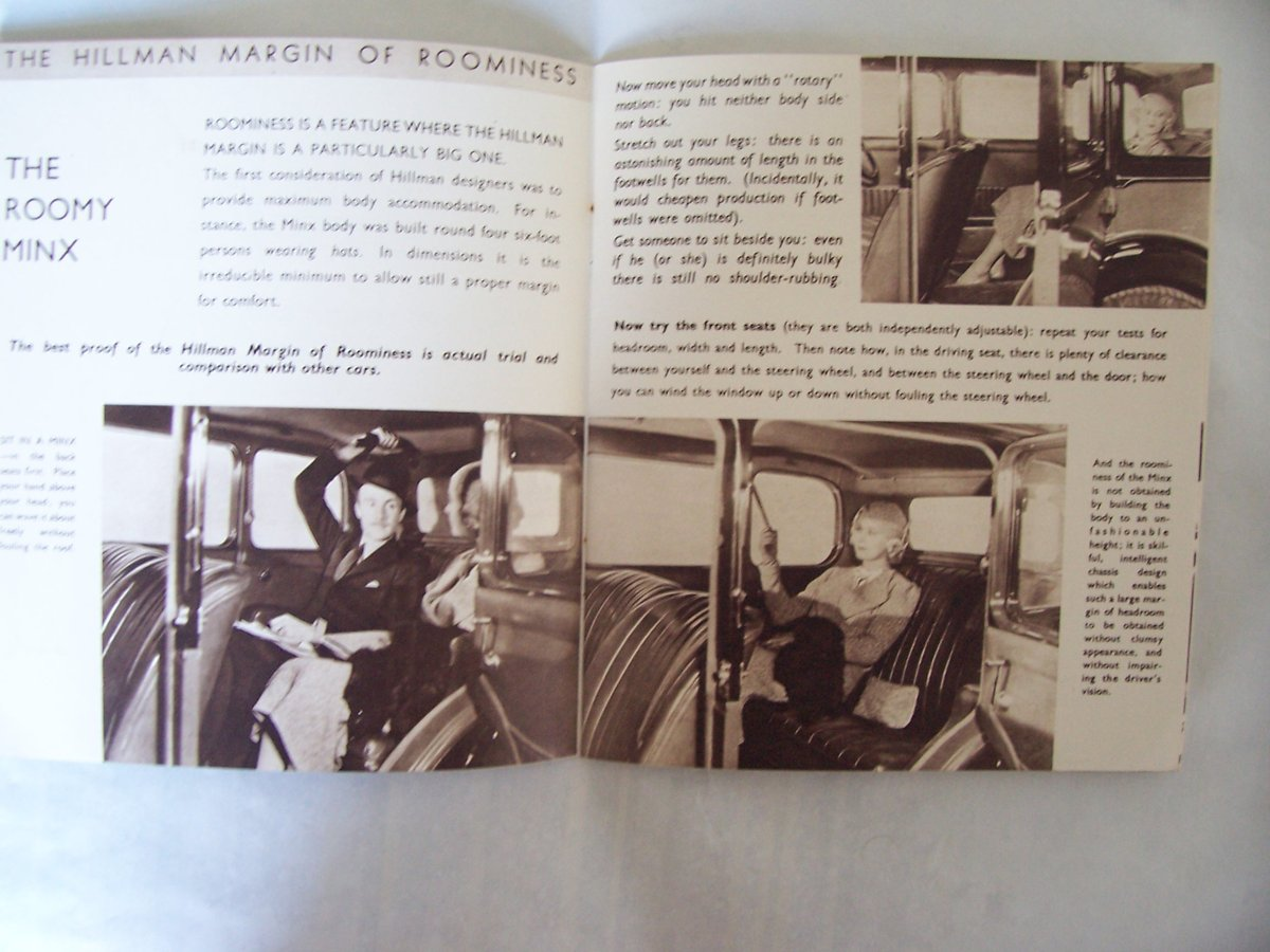 HILLMAN PROMOTIONBOOKLET 1935 For Sale (picture 5 of 6)