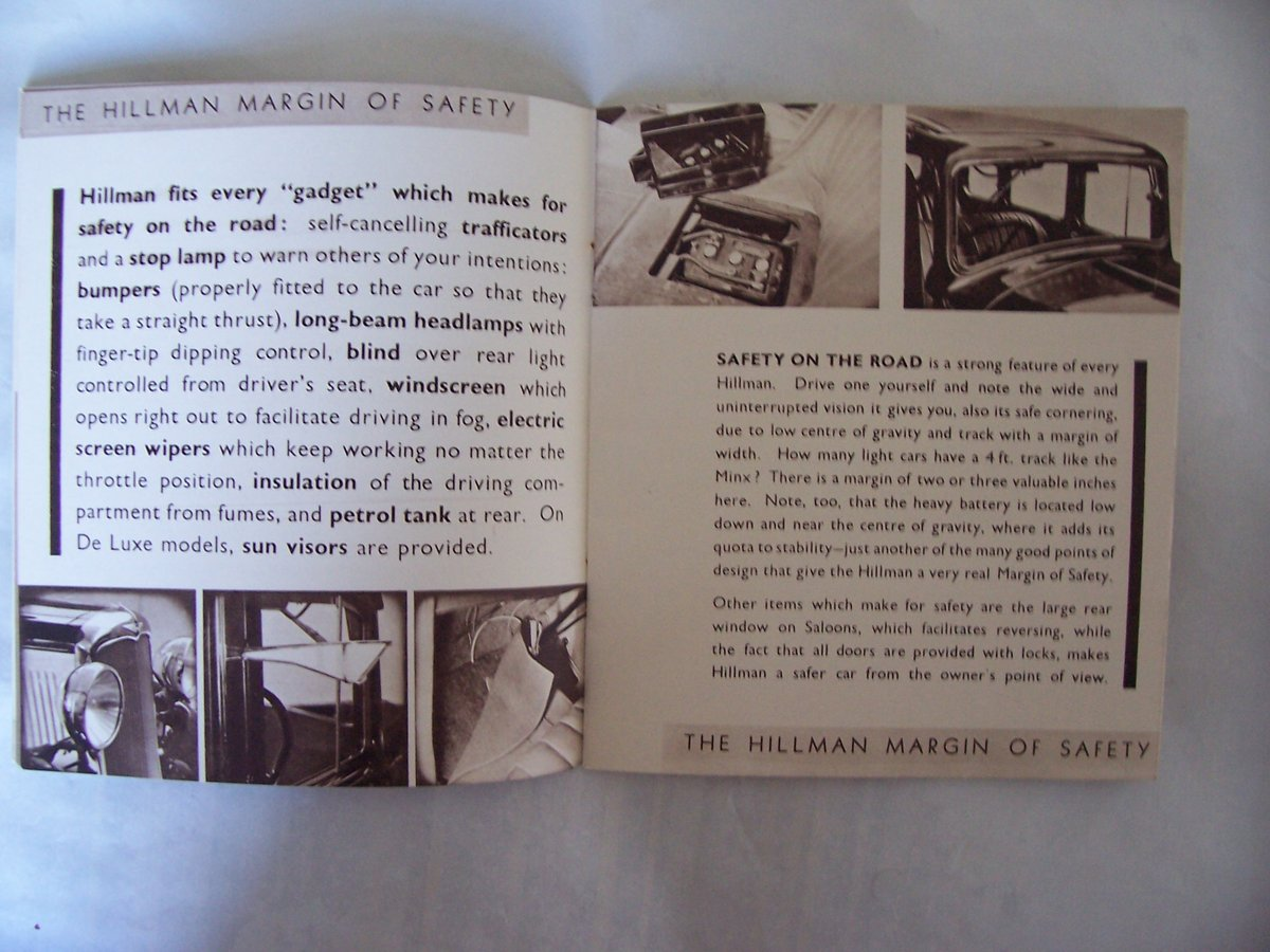 HILLMAN PROMOTIONBOOKLET 1935 For Sale (picture 6 of 6)