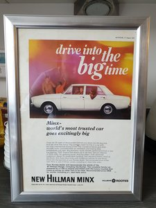 1967 Original Hillman Minx advert