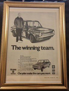 1972 Hillman Imp Advert Original