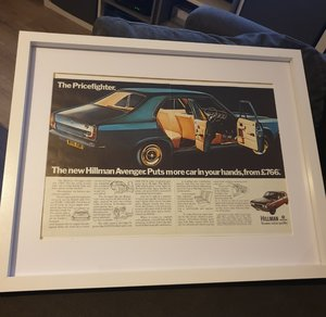 1970 Hillman Avenger Advert Original  For Sale