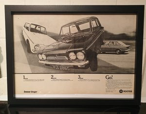 1969 Imp Range Framed Advert Original  For Sale
