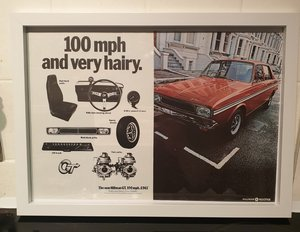 1969 Original Hillman GT Framed Advert For Sale