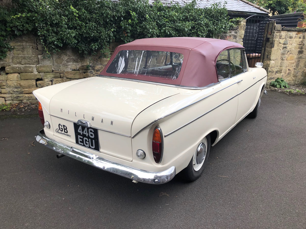 1963 Hillman Superminx Convertible 22 Feb 2020 For Sale by Auction (picture 3 of 6)